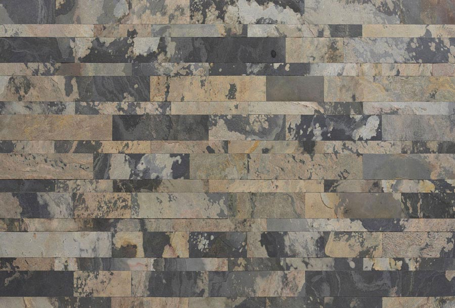 Indian Autumn Rustique Plain Mosaic 1200x600mm
